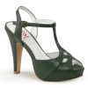 BETTIE-23 Forest Green Faux Leather